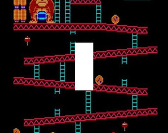 Donkey Kong Single Light Switch Plate Cover Arcade NES