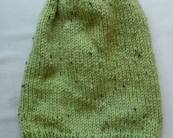 Green Slouch Beanie Hat