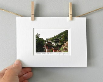 Landscape Photography, Asian Art, Photograph of China, Chinese Photography, Rooftops, Asian Architecture, ACEO, Asian Decor, 5x7 Matted