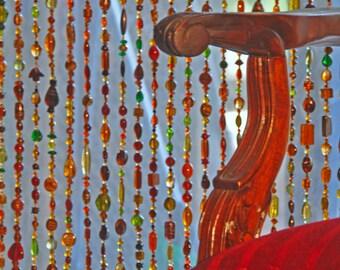 Door beaded curtains, Door beads,  Door curtain, Door beads curtain, Room divider, Door decor, Hanging door beads,Hippie door beads,
