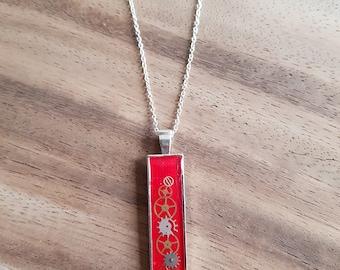 Steampunk COG vintage necklace