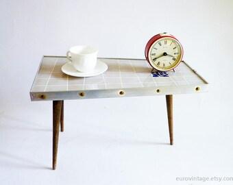 Mid Century Mosaik Kaffee Stativ Tisch / MidCentury Übertopf / grau Mosaik Stativ / 50er Jahre 60er Jahre