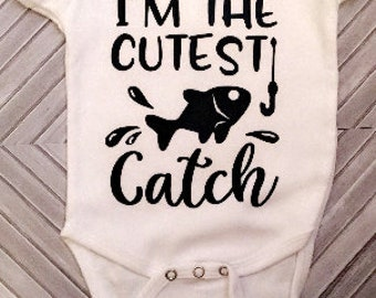 FREE SHIPPING | I'm the Cutest Catch | I'm the Best Catch | Father-Son Matching Shirts