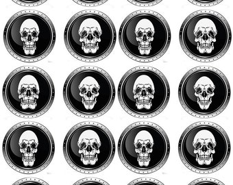 Skull Portraits - Ceramic Waterslide Decal - Enamel Decal - Fusible Decal - 30421