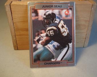 Junior Seau Rookie Card, Football Card, San Diego  Chargers, Pro Football, Football Card