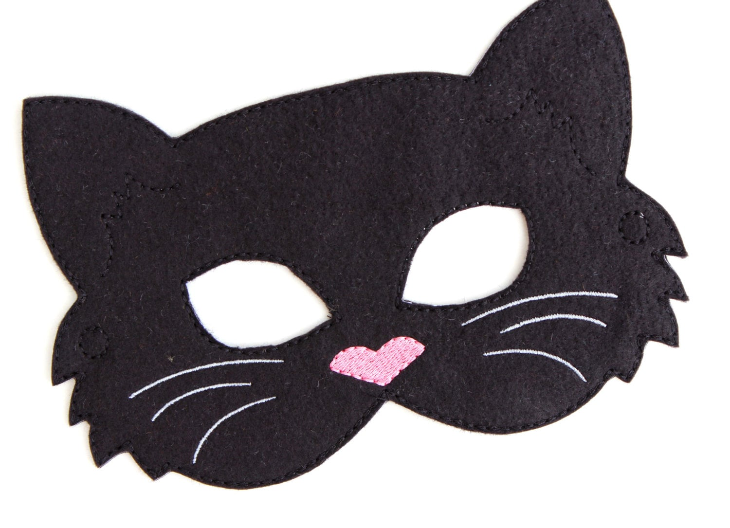 ?zoom  sc 1 st  Etsy & Kids Cat Mask Black Cat Costume Felt Mask Kids Face Mask