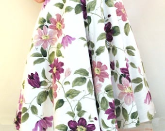 The 'Martine Dress' - Fifites style floral dress - Size 10