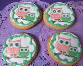 Owl Baby Shower sugar cookies 12