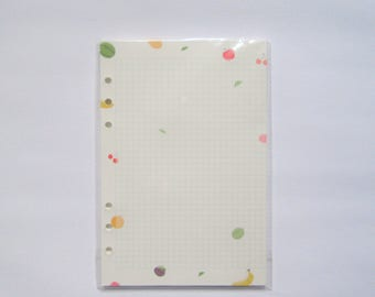 Fruity Print Planner Refill Grid Paper