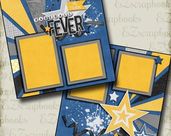 BASEBALL FEVER - 2 Premade Scrapbook Pages - EZ Layout 3162