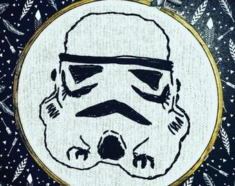 STORM TROOPER - Embroidery Hoop Art