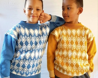 Children Knit Fairisle Sweaters, Boys Knit Jumper
