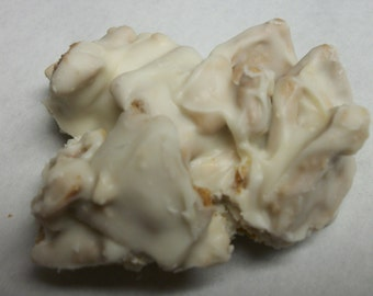 White Chocolate Cashew Cinnamon Square Candy, Crunchy white chocolate clusters 1 LB  wedding favors, party favors,Engagement party