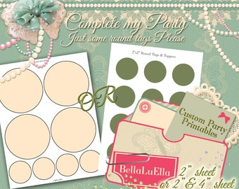 Custom Party Tags, Printable Party Package, Custom Party Printables, Birthday Party, Personalized Party