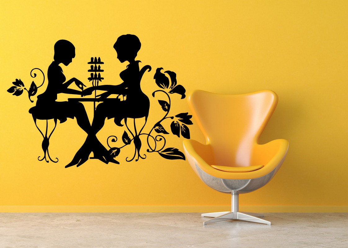Wall Decal Sticker Bedroom manicure salon girls beauty nail