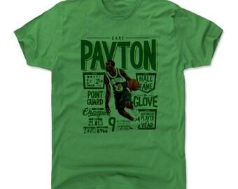 Gary Payton Men's Cotton T-shirt - Seattle Throwbacks Gary Payton Position G