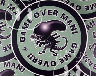 Aliens inspired waterproof vinyl sticker