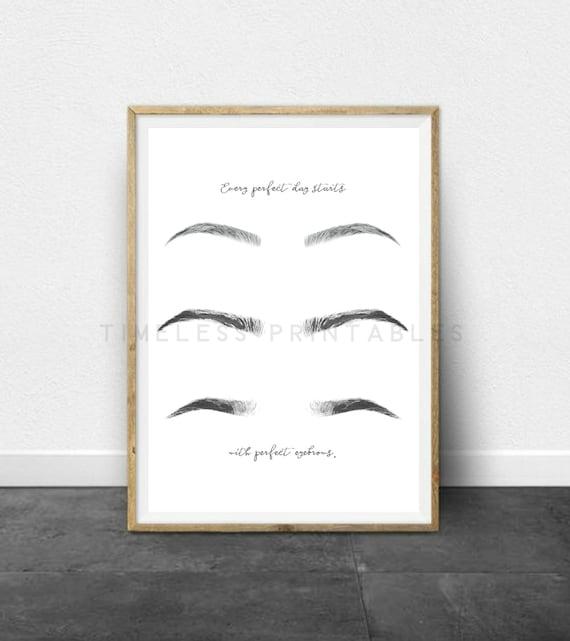 Eyebrows sign 8x10 and 5x7 printable salon decor eyebrows