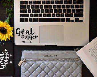 goal digger inspiration decal / laptop sticker / laptop decal / vinyl / car decal / car sticker / quote / goal digger / achieve your goals