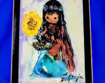Sunflower Girl by Ted DeGrazia