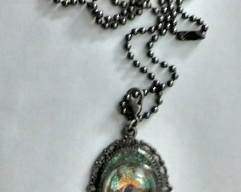 Chameleon eyeball necklace by C 13