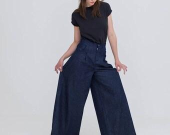 Blue GOTS Organic Cotton Pin Tuck Jeans