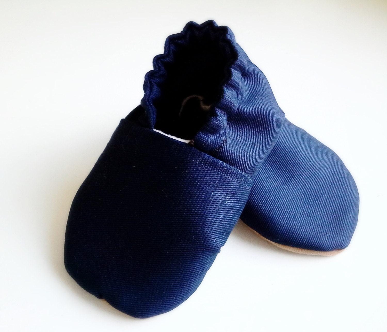 Navy Blau Canvas-Baby-Schuhe Segler krippenschuhe Schuhe
