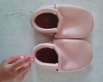 Real soft Leather Baby moccs