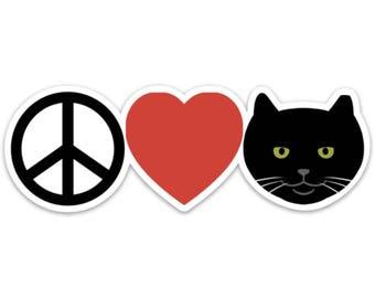 Peace, Love, Officer Tom Sticker