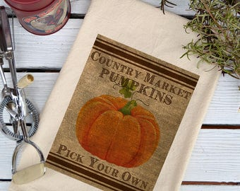 Flour Sack Towel, Flour Sack Dish Towel, Flour Sack Kitchen Towels, Tea Towels, Kitchen Towels, Dish Towels, Farmhouse, Country Pumpkins