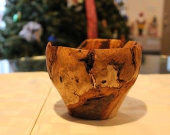 Black Cherry Burl Yarn Bowl, yarn bowl, custom made, hand turned