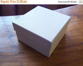 TAX SEASON Stock up 10 Pack White Cotton Filled Deep 3.5X3.5X2 Inch Size Jewelry Gift Retail Boxes