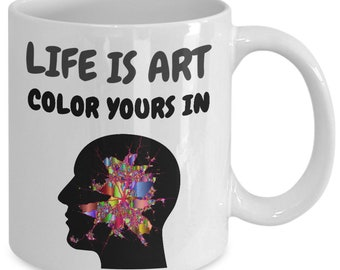 Gift mug for art lovers