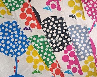Echino standard 2017 cotton linen Japanese Fabric - big berry 50cm