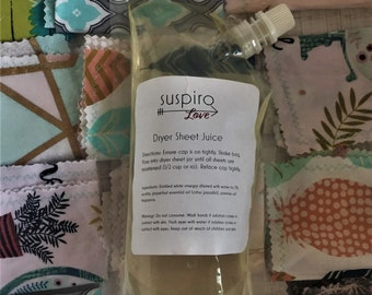 Jasmine Reusable Dryer Sheet Juice 32 FL OZ