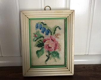 Vintage Cross Stitch- Cottage Rose