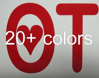 OT Vinyl Decal / Sticker *Available in 24 Colors* / occupational therapy /
