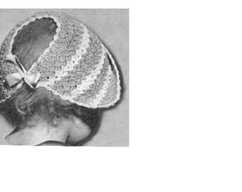 Vintage Dutch Baby Bonnet PDF Pattern
