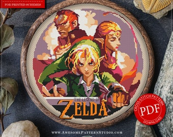 The Legend of Zelda Cross Stitch Pattern for Instant Download *P064| Easy Cross Stitch| Counted Cross Stitch| Embroidery Design