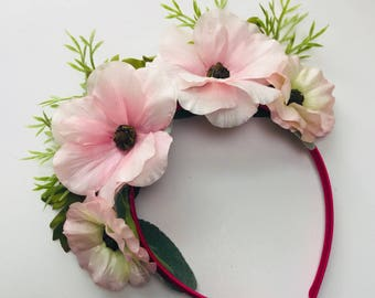 Cosmos Flower Crown Headband