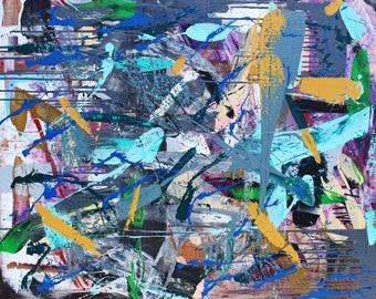 Ocean fairy - Original abstract art painting