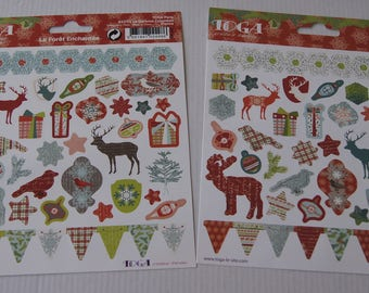 set of 2 boards Christmas TOGA stickers stickers