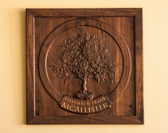 Custom Made Walnut Family Tree