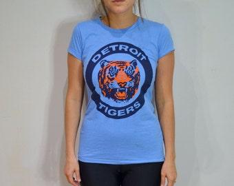 Detroit Tigers Tshirt Womens 1984 Tigers World Series Logo Opening Day 2017 Baseball Mom