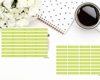 Planner Stickers|Box Stickers|Lime Green Box Stickers| Hourly and Vertical Planners| For use in a variety of planners and journals|HB020