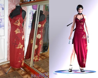 Ada Wong dress from Resident Evil Hand painting