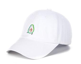 Dad Hat - Hat - Avocado Hat Embroider - Summer Dad Hat - Fruit Style Summer Dad Hat/Cap Summer Baseball Cap And Hat/Dad Hat