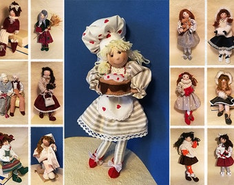 """""""Cook"""" doll from a collection made and sewn by hand"""