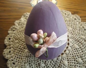 Purple Paper Mache Easter Egg