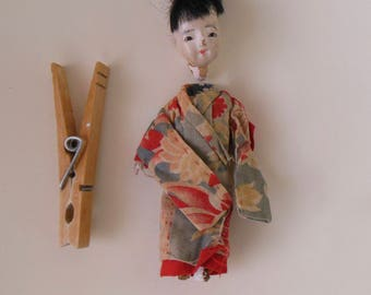 Vintage or Antique Japanese DOLL for repair, Composition Doll to repair, Hand Sewn Kimono, Vintage/ Antique Composition Asian Doll to repair